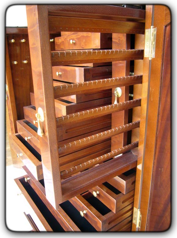 Fivebraids Custom Woodworking Jewelry Armoire