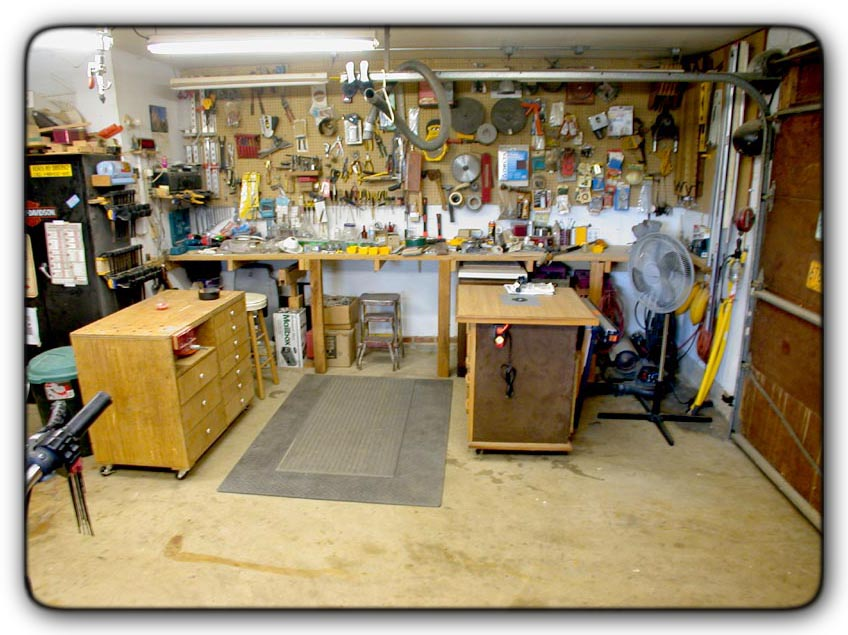 One car garage woodworking shop with simple photo in south for One car garage woodshop