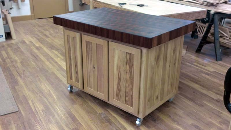 Oak Butcher Block Kitchen Island : Fivebraids Custom Woodworking - Granite and Oak Table