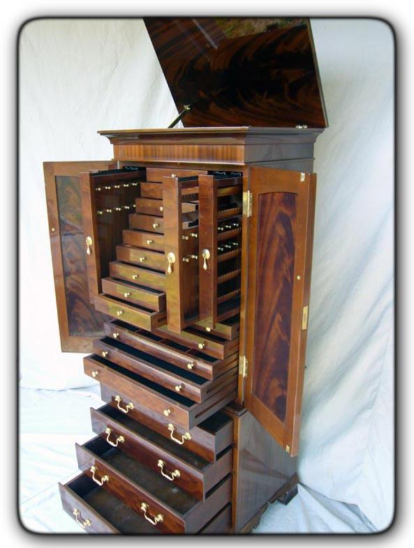 Fivebraids Custom Woodworking Jewelry Armoire