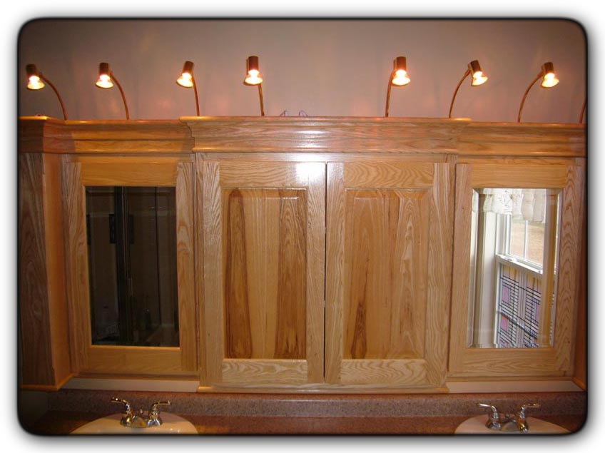 above cabinet lighting fivebraids custom woodworking bathroom remodel 10416